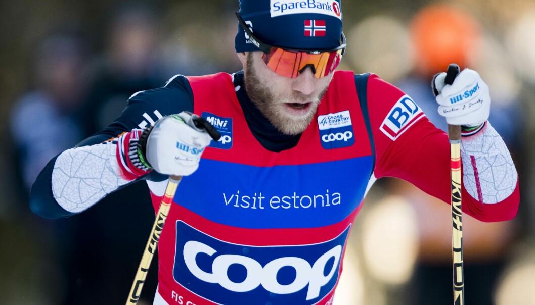 SYK: Martin Johnsrud Sundby er blitt syk og står over helgens renn i svenske Ulricehamn. Foto: Terje Pedersen / NTB scanpix
