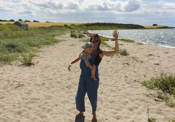 MORSLYKKE: Annika og sønnen Billy (4) bor i København - helt siden han ble født har hun vært bevisst på å snakke norsk til ham. FOTO: privat