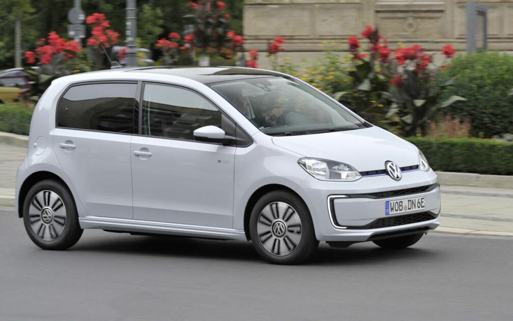 STOPP: Etter 25. januar blir det midlertidig ordrestopp av VW e-Up. Foto: VW