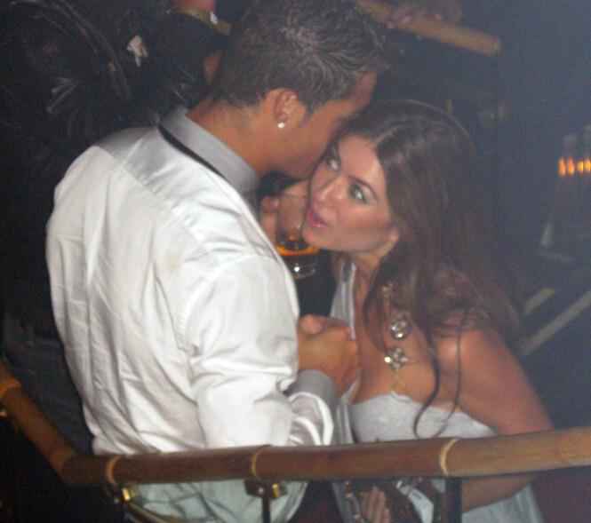 VOLDTEKTSANKLAGE : Her er et bilde av Kathryn Mayorga og Cristiano Ronaldo på en nattklubb i Las Vegas i 2009. Foto: NTB scanpix
