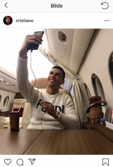 RIS OG ROS: Mens mange digger Ronaldos siste Instagram-bilde, får det andre til å se rødt. Foto: Skjermdump fra Instagram