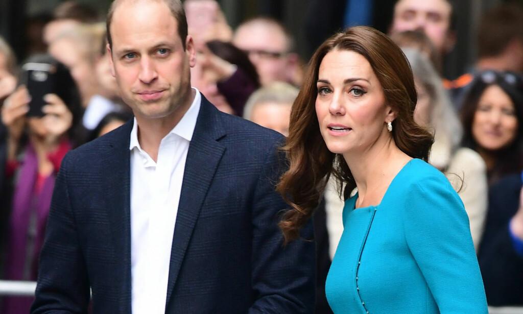 OPPTATT AV MENTAL HELSE: Prins William snakket om mental helse under World Economic Forum i Davos onsdag. Her avbildet med kona, hertuginne Kate, ved en annen anledning. Foto: NTB scanpix