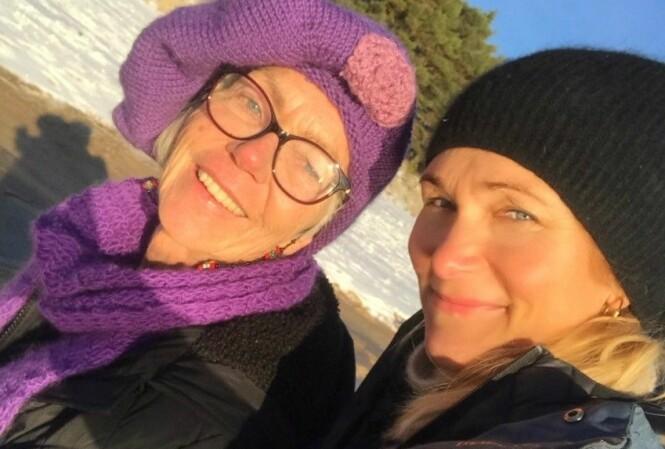 - MITT FORBILDE: Karina Hollekim beskriver sin mor Sidsel som en fighter. Foto: Privat