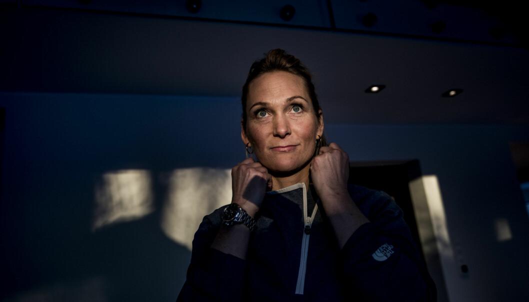 Å REISE SEG IGJEN: Karina Hollekim (42) har en nærmest ufattelig skadehistorikk. Til tross for dette er hun en av deltakerne i «Mesternes Mester» på NRK. Foto: Christian Roth Christensen / Dagbladet