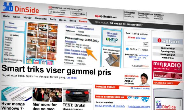 b2048be2 DINSIDE ANNO 2009: Vi har reist i tidsmaskinen og funnet frem ti norske  nettsider og