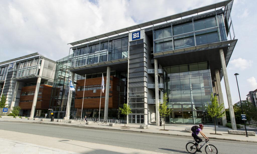 BI-ARRANGEMENT: BI i Oslo har anmeldt trusler om skyting mot et studentarrangement. Foto: NTB Scanpix