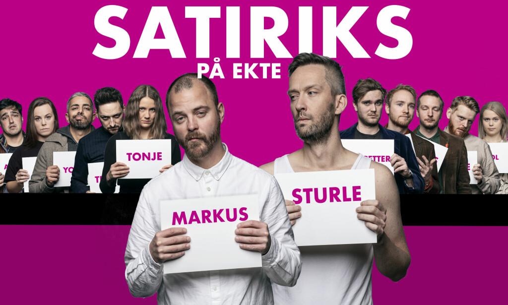 NYTT HUMORPROGRAM: Satiriks på ekte. Foto: Julia Marie Naglestad / NRK