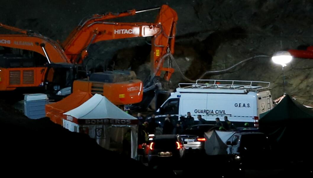 <strong>FUNNET DØD:</strong> Etter 13 dager med intensiv leting, har redningsarbeidere funnet Julen Rosello død. FOTO: Marco Del Pozo / Reuters / NTB Scanpix