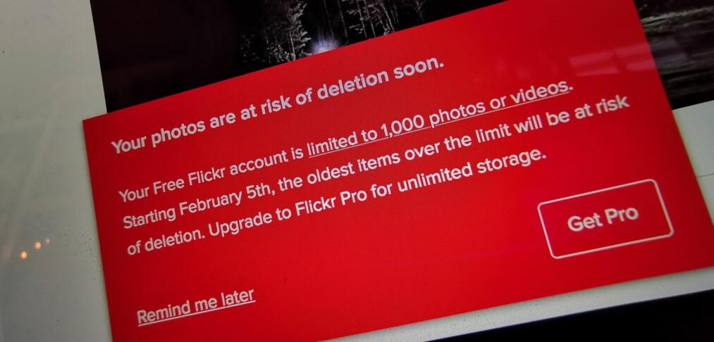 Nå har du dårlig tid – snart begynner Flickr slettingen