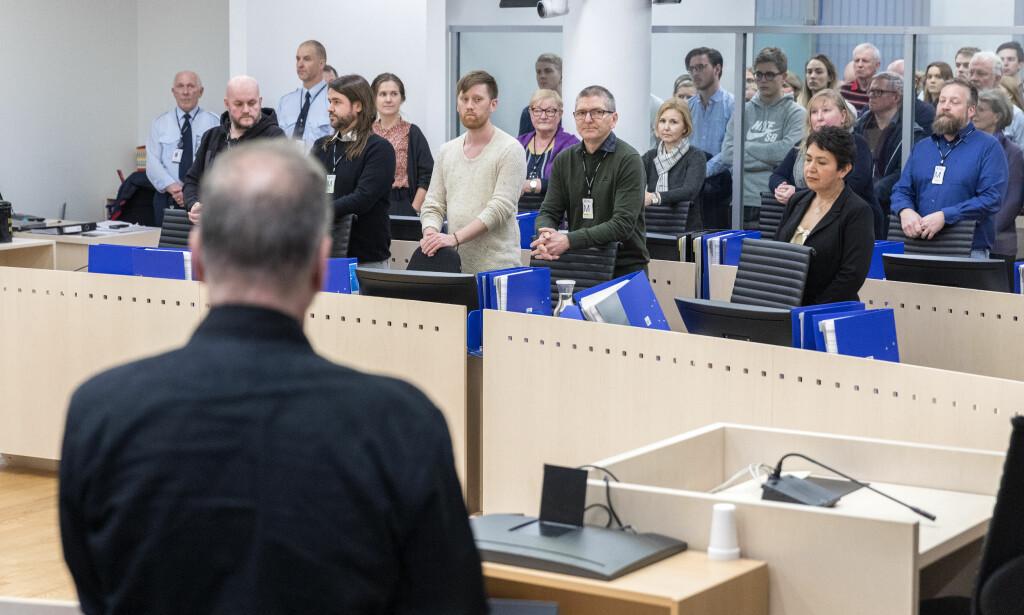 JURYEN: Juryen frikjente Eirik Jensen for medvirking til narkotikainnførsler, men fant ham skyldig i korrupsjon. Kjennelsen ble satt til side av fagdommerne, og nå forteller et av medlemmene om dramaet i juryen. Foto: Gorm Kallestad / NTB scanpix