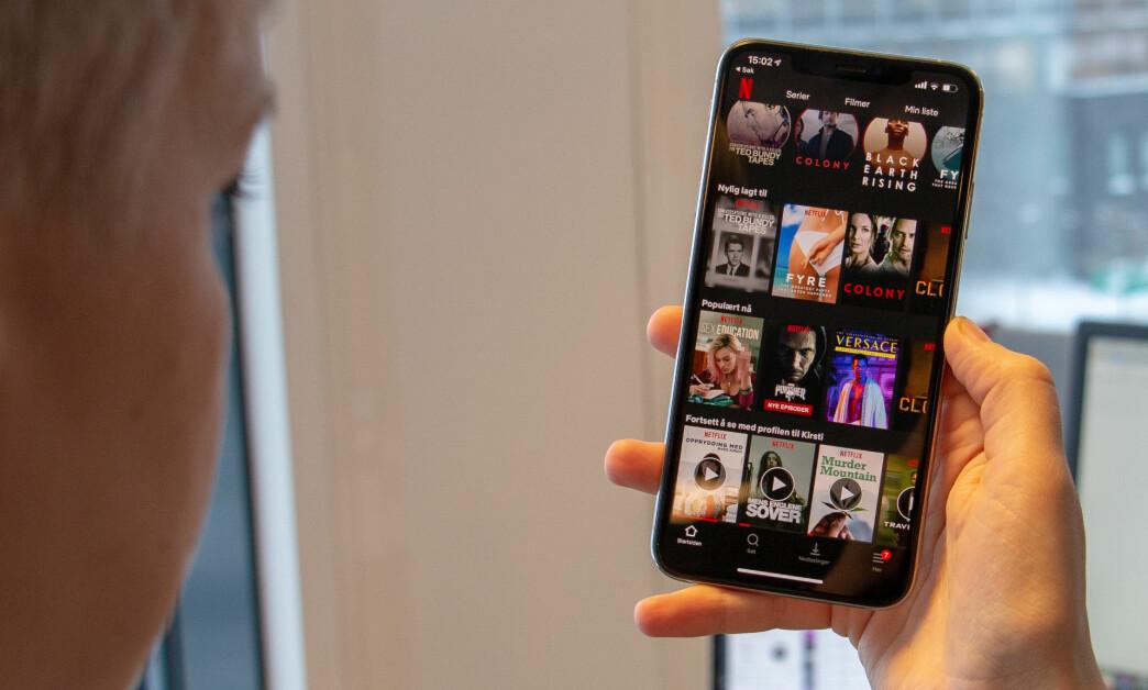 <strong>TREGT NETT:</strong> Hastigheten går ned, men du kan fortsatt seriefråtse på Netflix. Foto: Martin Kynningsrud Størbu