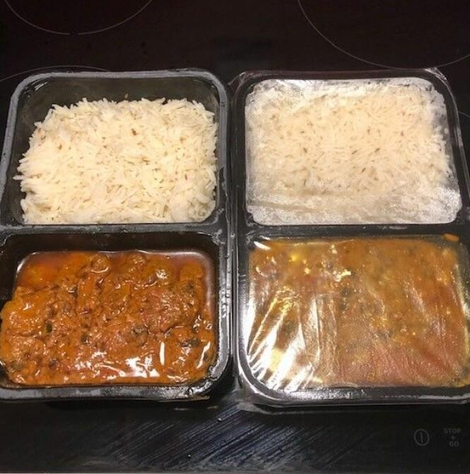 INDISK MAT: Billig take-away mat som du kan kose deg med hjemme. Foto: Privat