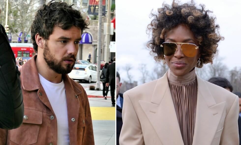 OBSERVERT: Liam Payne og Naomi Campbell ble observert sammen under en konsert i London, kort tid etter at romanseryktene satte fart. Foto: NTB Scanpix