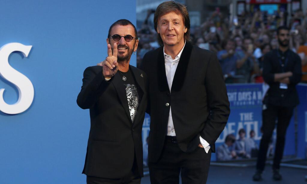 MED PÅ LAGET: Tidligere bandmedlemmer sir Paul McCartney og sir Richard Starkey (bedre kjent som Ringo Starr) er blant dem som har gitt prosjektet sin velsignelse. Foto: NTB Scanpix