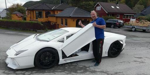 image: Steinar har bygd sin egen Lamborghini!