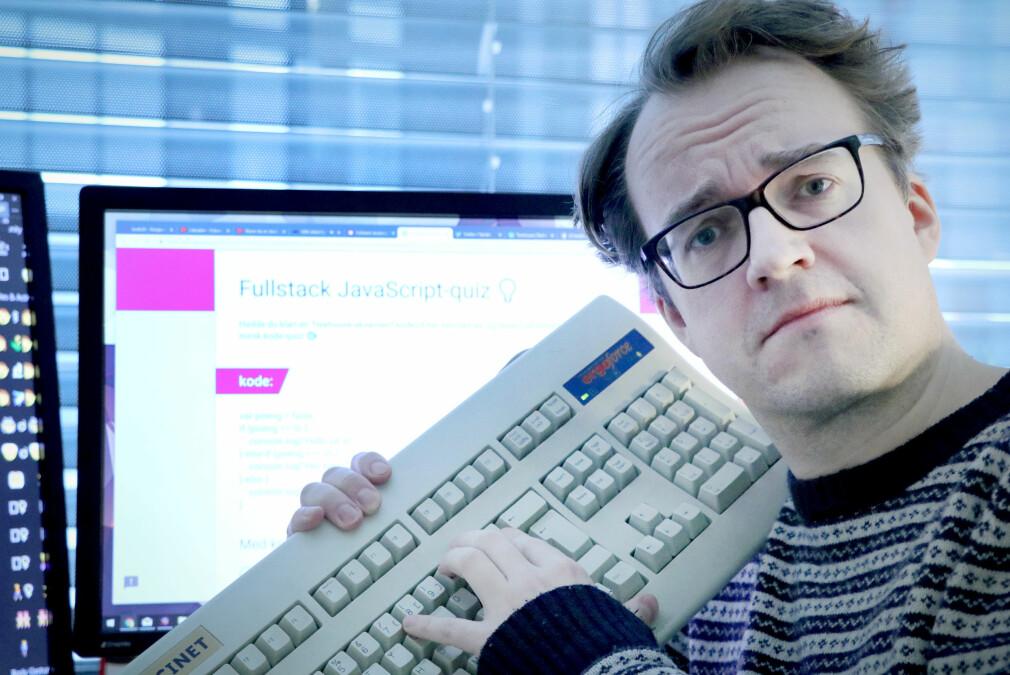 Ole Petter i kode24 har laga kodequiz – så du kan se om du hadde klart en Treehouse-eksamen! 📸: Jørgen Jacobsen