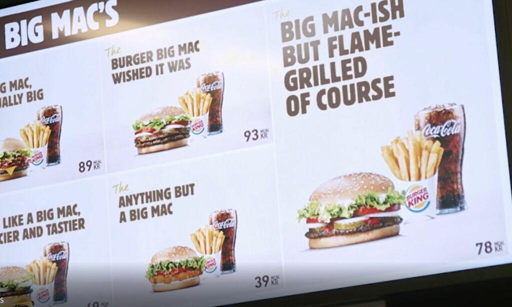 image: Burger King med frekt stikk til McDonald's