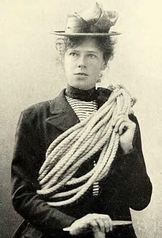 Therese Bertheau var en norsk klatrepioner. Hun besteg over 30 fjelltopper, mange av dem som første kvinne. Fotograf ukjent/Norsk fjellsport 1933