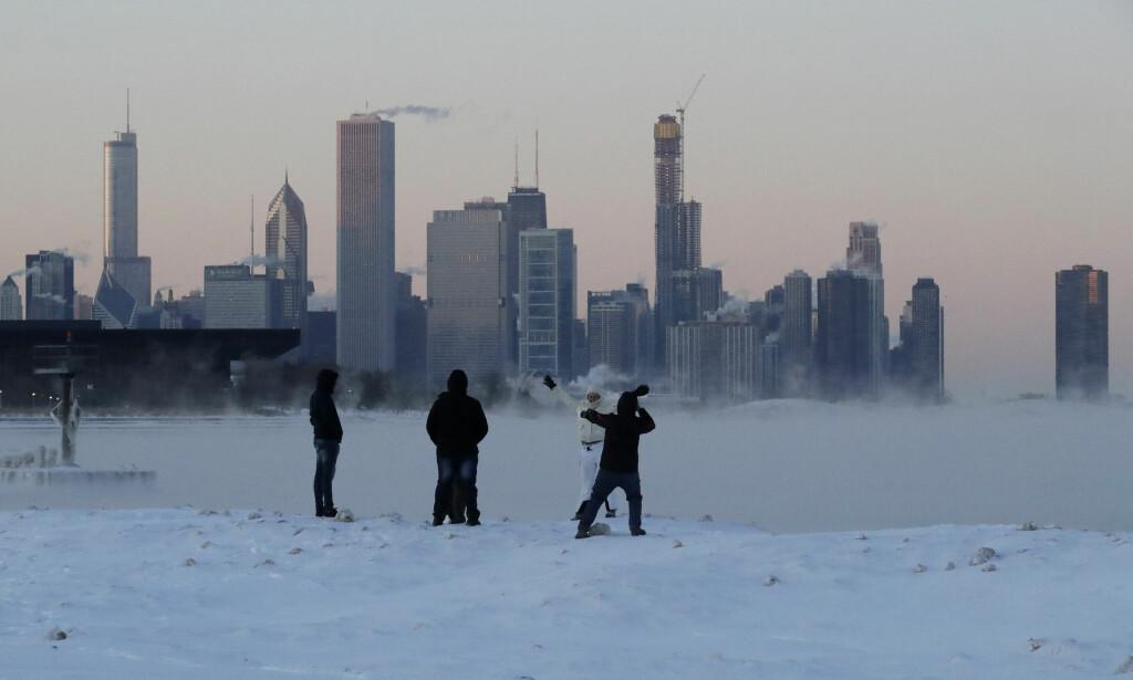 CHICAGO: Byen som har måtte tåle noen av de kaldeste temperaturene. Foto: AP Photo/Nam Y. Huh