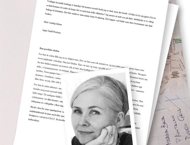 1c0e536d ØNSKER DEBATT: Kreftsyke Inger Staff-Poulsen ønsket å bringe temaet aktiv  dødshjelp fram i