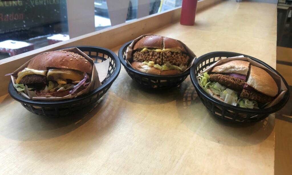 VEGETAR & VEGAN: Vi smakte på de tre vegetaralternativene på Munchies i Oslo. Beyond Burger stiller i en klasse for seg selv. Det er kanskje ikke så rart de helst vil sammenligne seg med vanlige burgere?