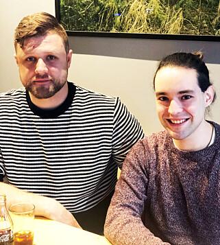 TESTPANELET: Tomas Vaigauskas og Pedro Magalhaes fra restaurant Cru i Oslo har smakt på vegetarburgerne for oss.