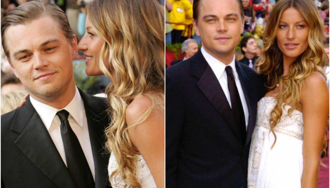 <strong>EKS-KJÆRESTER:</strong> Her er Gisele Bündchen og Leonardo DiCaprio sammen på den røde løperen under Oscar-utdelingen i 2005. Samme året som det ble slutt. Foto: NTB Scanpix