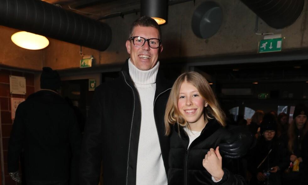 FAR OG DATTER: Jan Fredrik Karlsen og dattera Felicia Formoe Karlsen gleder seg til å se Janne Formoe på scenen lørdag ettermiddag. Foto: Andreas Fadum / Se og Hør