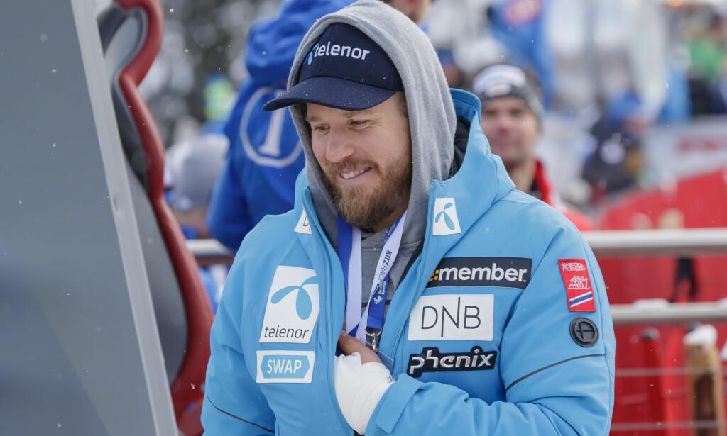OPTIMIST: Kjetil Jansrud greier alltid å finne lyspunkter, og det gjør også teamet som jobber med å få ham klar til VM-start. Foto: Cornelius Poppe / NTB scanpix