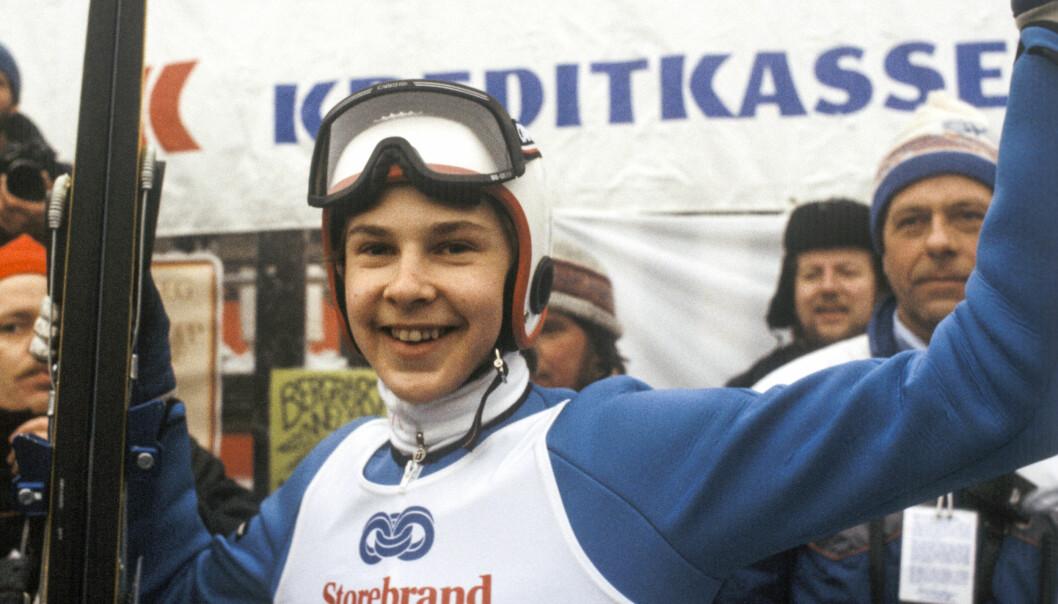 <strong>TIDENES SKIHOPPER:</strong> Det er slik hoppverden minnes Matti Nykänen - som en vinner. Her fra VM i Holmenkollen i 1982. Foto: NTB scanpix