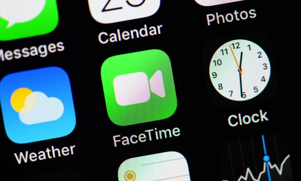 FACETIME: Apple sier de har fikset det alvorlige hullet i videosamtaletjenesten FaceTime. Foto: Odd Andersen/AFP