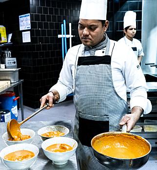 KLASSISK OG GODT: New Dehli serverer «indisk mat» akkurat slik mat håper de skal.