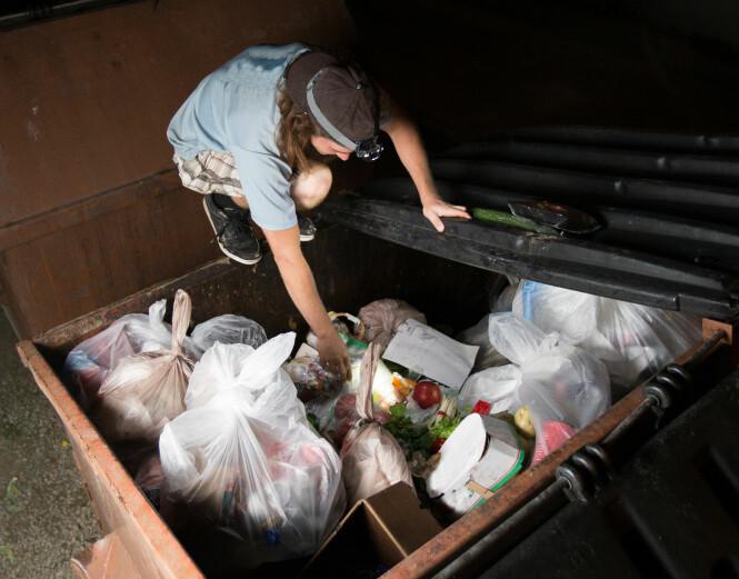 LOVLIG I USA: Søppeldykking er lovlig i USA, og ifølge «The 1988 Supreme Court Ruling (California vs. Greenwood)», med en gang en person kaster noe blir det offentlig eiendom. Foto: NTB Scanpix