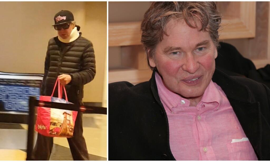FORANDRET: De seneste årene har skuespiller Val Kilmer (59) blitt behandlet for kreft i strupen. Nå ser han friskere ut enn på lenge. Bildet til høyre er fra forrige uke. Foto: NTB Scanpix