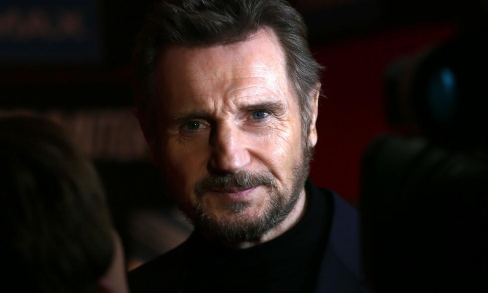 BRUTALT ÆRLIG: Skuespiller Liam Neeson (66) angrer dypt på måten han håndterte situasjonen hvor en som sto ham nær ble voldtatt. Foto: NTB Scanpix