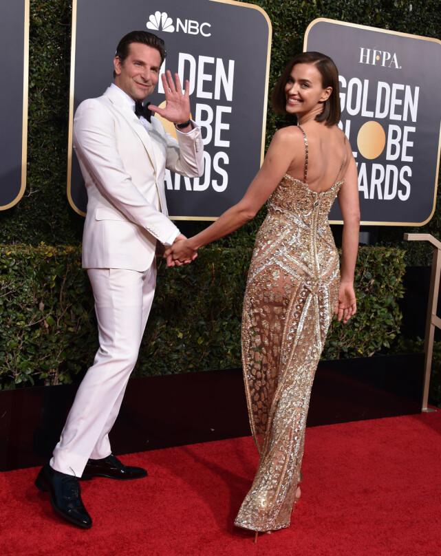 FORELDRE: Bradley Cooper og Irina Shayk under Golden Globe tidligere i år. Sammen har de datteren Lea (2). Foto: NTB Scanpix