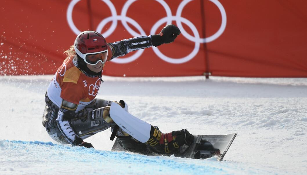<strong>TO GULL:</strong> Ester Ledecká tok gull både i paralellslalåm og super-G under OL. I år måtte hun ta et tøft valg. Foto: NTB Scanpix