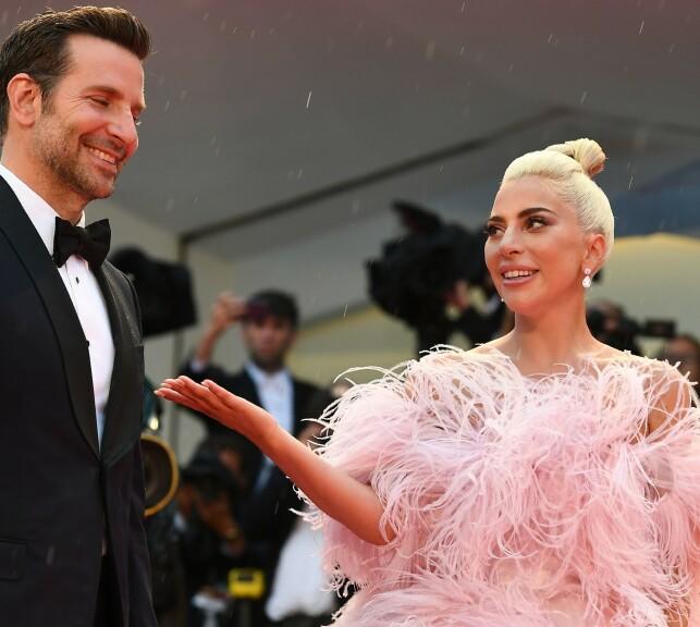 SHELTER: Lady Gaga praised her opponent Bradley Cooper for his efforts in