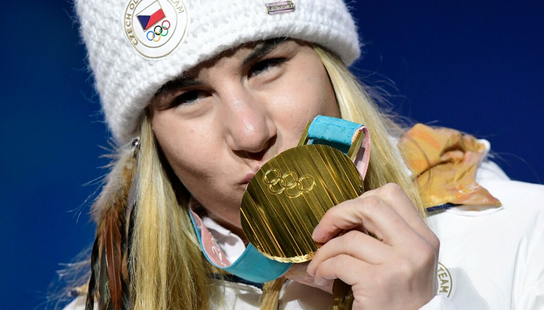 <strong>TO OL-GULL:</strong> Ester Ledecka.JAVIER SORIANO / AFP