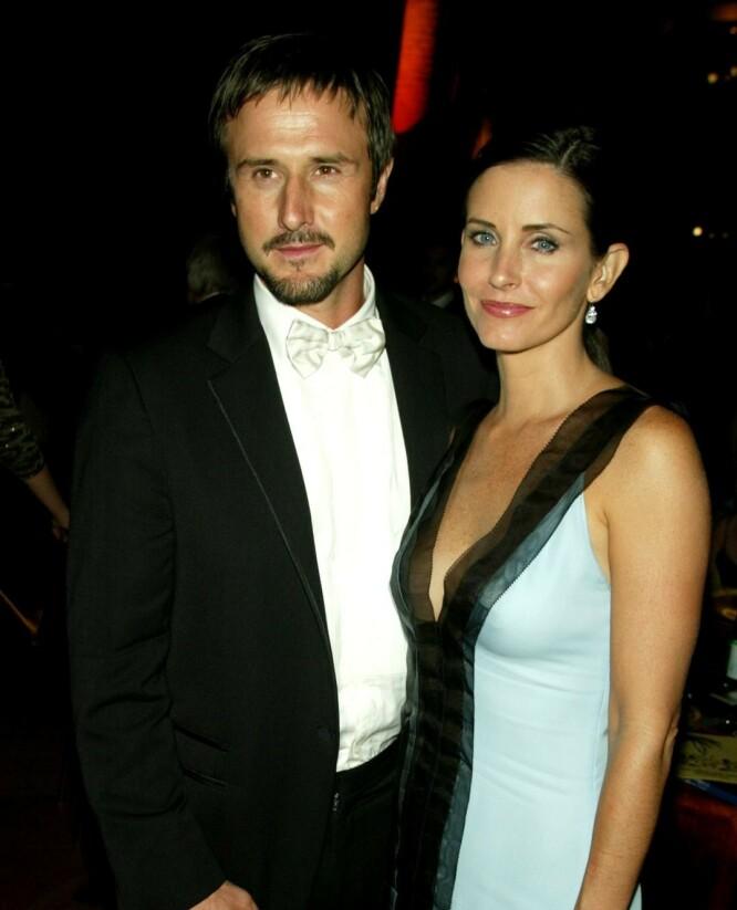 LYKKEN BRAST: David Arquette og Courteney Cox var sammen i fjorten år før de gikk hver til sitt. FOTO: Scanpix