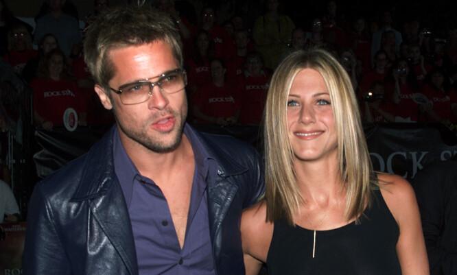 UTROSKAPSSKANDALE: Brad Pitt falt for Angelina Jolie under innspillingen av «Mr. & Mrs. Smith» –mens han fortsatt var gift med Jennifer Aniston. FOTO: Scanpix