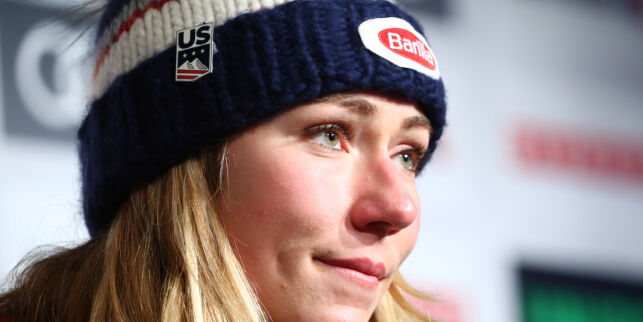 Alpine Skiing - FIS Alpine World Ski Championships - Women's Super G - Are, Sweden - February 5, 2019  Mikaela Shiffrin of the U.S during a press conference  REUTERS/Denis Balibouse