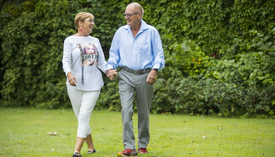 <strong>MED KONA:</strong> Knut Haavik fotografert sammen med kona Solveig, som han pleide å kalle Sol. Foto: Espen Solli/ Se og Hør