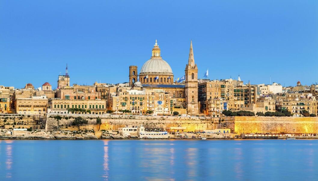 Maltas hovedstad Valletta skiller seg ut fra resten av øya med sine vakre bygninger i barokkstil.