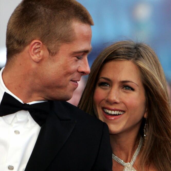 MANN OG KONE: Aniston var gift med skuespillerkollega og Hollywood-kjekkas Brad Pitt i fem år. i januar 2005 ble det derimot kjent at de skulle skilles. Foto: NTB Scanpix