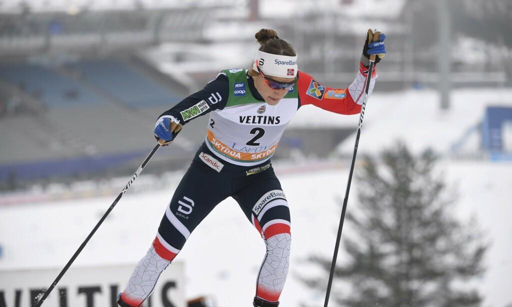 SEIER: Maiken Caspersen Falla vant i Lahti. Foto: Markku Ulander/Lehtikuva / NTB scanpix