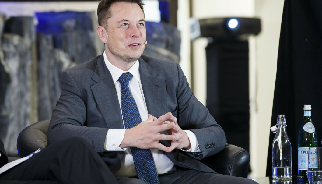 I 2016 besøkte Tesla-grunnleggeren Elon Musk konferansen Grønn omstilling i Oslo. Lørdag kommer han igjen til byen – denne gangen for å besøke de norske ansatte i Tesla Norge. Arkivfoto: Heiko Junge / NTB scanpix