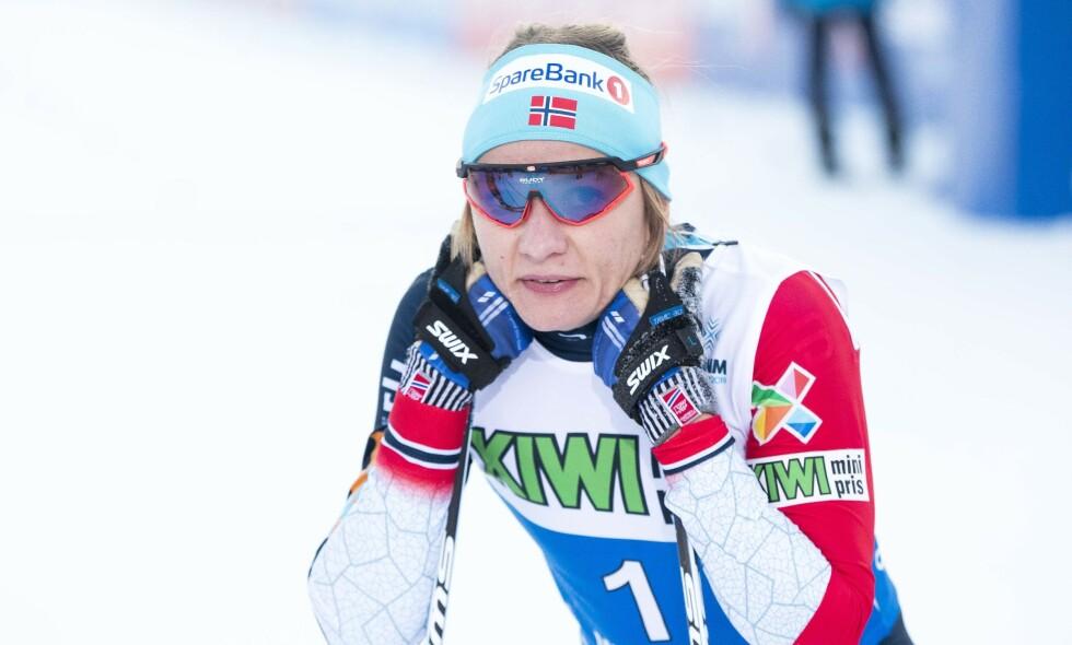 SLÅTT: Maiken Caspersen Falla måtte gi tapt på oppløpet. Foto: Terje Pedersen / NTB scanpix