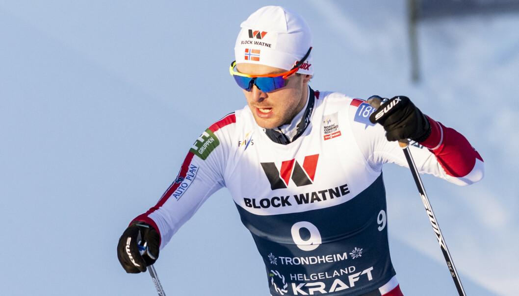 <strong>SEIER:</strong> Jørgen Graabak vant i Lahti. Foto: Ned Alley / NTB scanpix