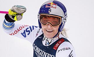 AVSLUTTET MED STIL: Lindey Vonn tok bronse i sitt siste renn. Foto: Hans Arne Vedlog / Dagbladet
